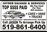 $Top Dollar Paid for your Retired Rides,OldJunkers,Farm Trucks$