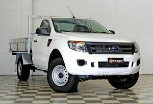 2014 Ford Ranger PX XL 2.2 (4x2) White 6 Speed Manual Cab Chassis Burleigh Heads Gold Coast South Preview