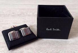 Paul Smith – Purple and Blue Stripe Cuff-links