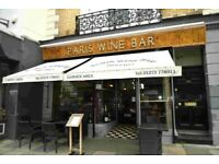 PARIS WINE BAR HOVE Experienced Multitasker Required ASAP