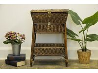 Beautiful Original Victorian Rattan/ Wicker Sewing Basket