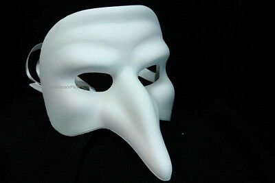 Black White DIY Doctor big Nose Masquerade ball mask midnight costume prom party