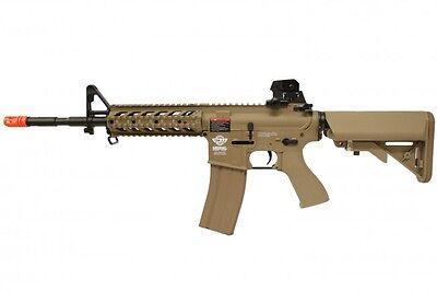 G&G CM16 Combat Machine Raider Long M4 RIS AEG Airsoft Gun - Tan / Combo