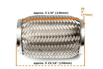 Universal Auspuff Rohr Flexrohr Flexstück Flammrohr Hosenrohr 45x48x55 400MM