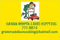 GRASS ROOTS LAWN CUTTING FRONT AND BACK START AT $30 A CUT