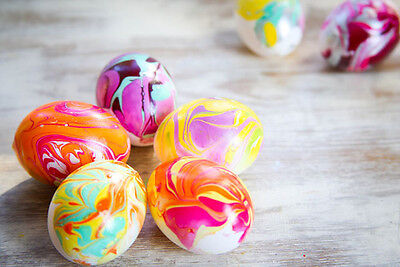 Create some fun marble effect eggs using nail varnish