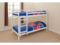 """White """"shorty"""" kids bunk beds"""
