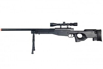 WELL L96 AWP Bolt Action Airsoft Sniper Rifle w/ Scope & Bipod Black MB01BAB for sale  Los Angeles