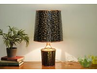 Original Retro 1960's Copper Hand Formed Lamp