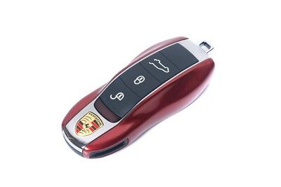 Für Porsche Glanz Gelb Schlüssel Cover Key Cover Schlüssel Hülle Fernbedienung