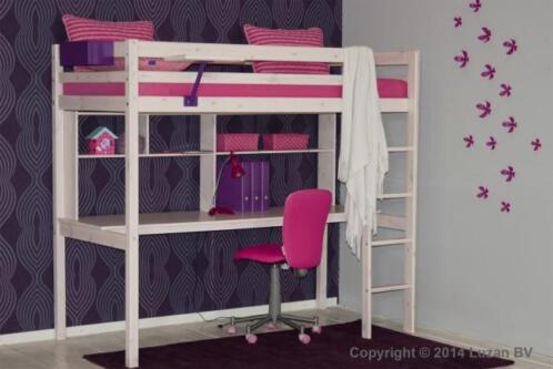 Hoogslaper met bureau voor tienerkamer kinderkamer stapelbedden en hoogslapers - Hoogslaper tiener met kantoor en opslag ...