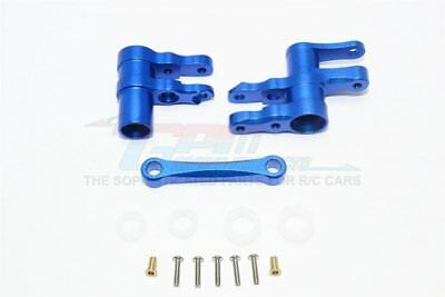 GPM Racing Traxxas 4-Tec 2.0 Blue Aluminum Steering Rack Assembly GT048-B - Gpm Steering Assembly