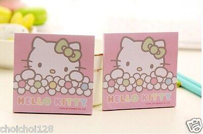 Hello Kitty Pink Flower Memo Pad Notes X 2 Packs Kk510