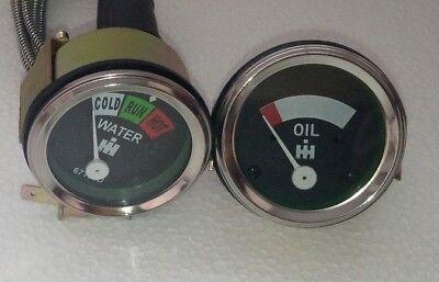 Oil Temp 2 Gauge Set For Farmall Ih H Sh Sm Smd Smta W Sw 1947-1954
