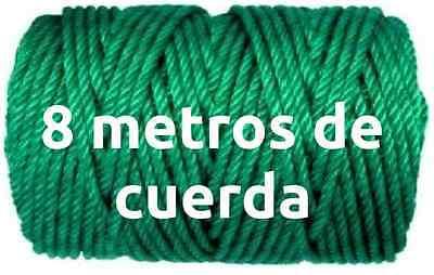 8 METROS DE CUERDA TENDER 5MM EN VERDE tendedero ropa para poleas...