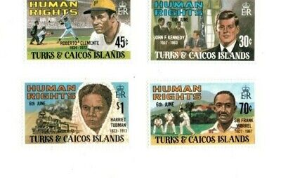 Turks and Caicos - 1980 - Human Rights Leaders - Set of Four -MNH(Scott#457-61)