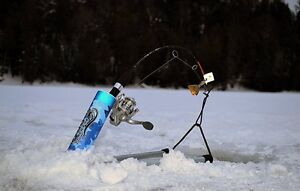 THE NEWEST AND HOTTEST ICE FISHING ROD HOLDER AND HOOK SETTER!!!