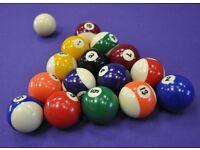 """WANTED: pool balls 2"""" diameter"""