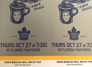 Leafs s Florida - Oct 27