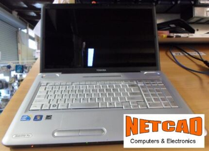 """Laptop: Toshiba L550 17"""" Screen, i3 2.1 4GB 320GB Mint Condition Toukley Wyong Area Preview"""