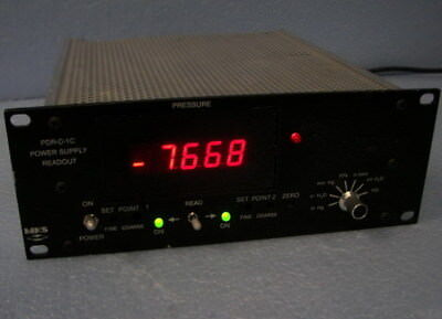 Mks Dual Digital Pdr-c-2c Power Supply Readout Baratron Instruments