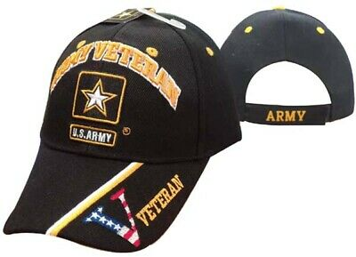 U.S. Army Star LOGO Veteran Vet USA Flag Embroidered Cap Hat Licensed