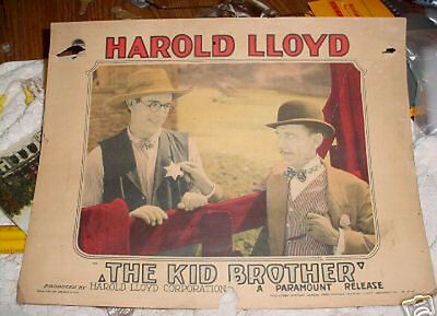 THE KID BROTHER HAROLD LLOYD VINTAGE LOBBY CARD 1927