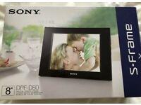 Digital Picture Frame and Clock. Brand New, Still In Original Box.