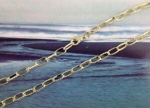 """Gold Plated Textured link chain necklaces 24"""""""