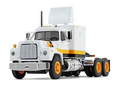 1/64 FIRST GEAR Mack R Model with Sleeper in White, Orange and Black for sale  Shipping to Nigeria