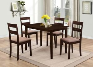 5 Pcs Wooden Dining Table Set  (Best  price Pay on delivery)
