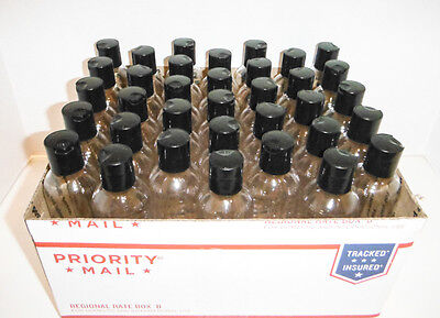 4oz Bottle Bullet 24 ct Free Shipping. Clear Plastic PET Bottles dispensing Cap.