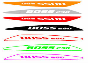 BOSS 260 or 290 bonnet bulge decals BA BF XR8 gt gs falcon ford outline or solid