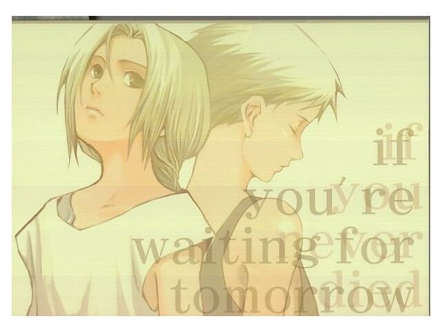 "Fullmetal Alchemist YAOI Doujinshi "" If You're Waiting For Tomorrow "" Edward"