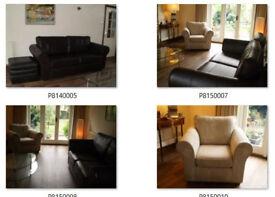 Westbridge Furniture Designs Dark Chocolate leather sofa in excellent condition