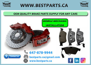 Front and Rear Brake Set (Rotor/Pad/Sensor) with Installation