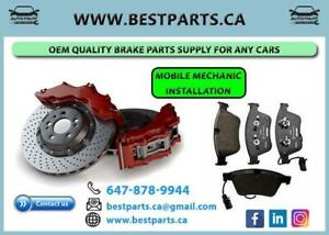 Front and Rear Brake Set (Rotor/Pad/Sensor) for any cars with Installation
