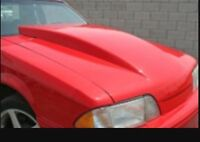 """Wanted fox body mustang hood with 2-4"""" cowl"""