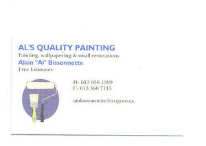 Al's Quality Painting, Wallcovering and Minor Renovations Cornwall Ontario image 1