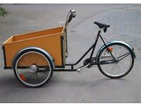 Cargo bike, tricycle, 3 wheeler, geared transporter.