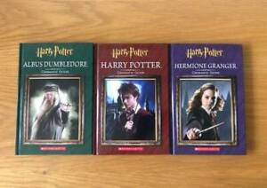 3 x Harry Potter, Hermione Granger & Albus Dumbledore CINEMATIC Books