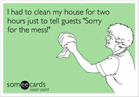 It's time...CLEANING