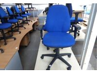 Blue office?computer chairs with arms