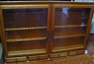 Display Cabinet or Case for Collectible Spoons