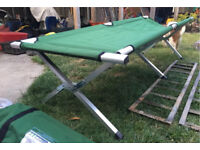Camp bed single folding