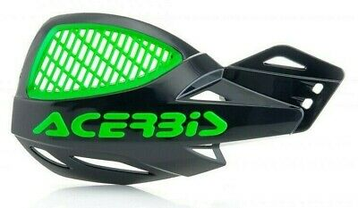 ACERBIS UNIKO VENTED HANDGUARDS BLACK GREEN YELLOW MOTOCROSS MX ENDURO