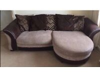 DFS sofa with chaise, matching storage footstool & FREE DELIVERY