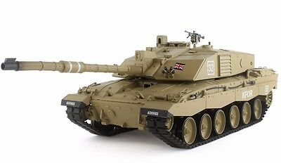 2.4Ghz Radio RC 1/16 British Challenger 2 Airsoft Battle Tank w/Smoke & Sound (Rc Airsoft Tank)