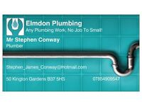 Elmdon Plumbing Ltd. Qualified Plumber Call For A Quote. No Call Out Fee.