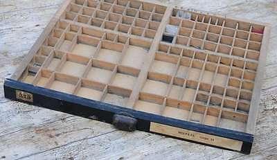 alter Setzkasten 50x44cm 30er Jahre original Druckerei Letterpress wooden tray..